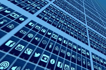 Mobile Phone Social Icons